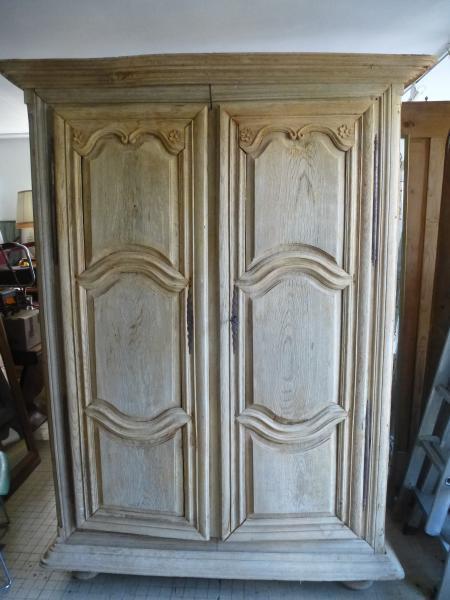 alex r rat antiquit s brocante armoire louis xiv chene blanchi. Black Bedroom Furniture Sets. Home Design Ideas